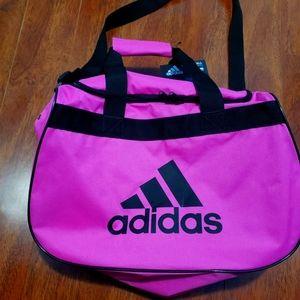 NWT sale Hot pink & black Adidas duffel